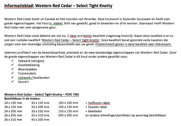 Red Cedar STK