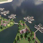 Waterwoningen met Lariks gevelbekleding, Project Lentse Kust